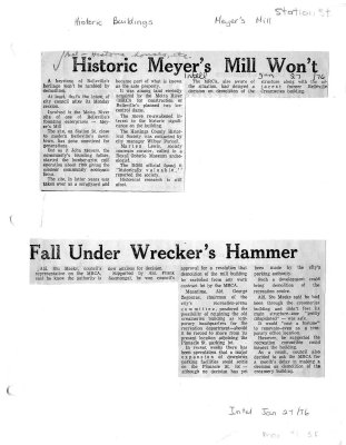 Historic Meyer's Mill won't fall under wrecker's hammer