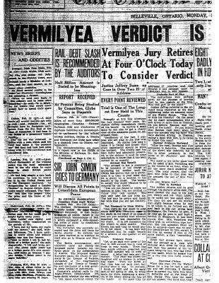 Vermilyea Verdict is Expected Tonight
