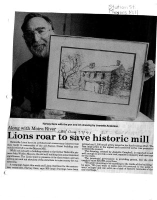 Lions roar to save historic mill