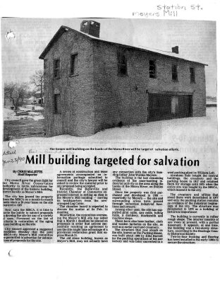 Mill building targeted for salvation