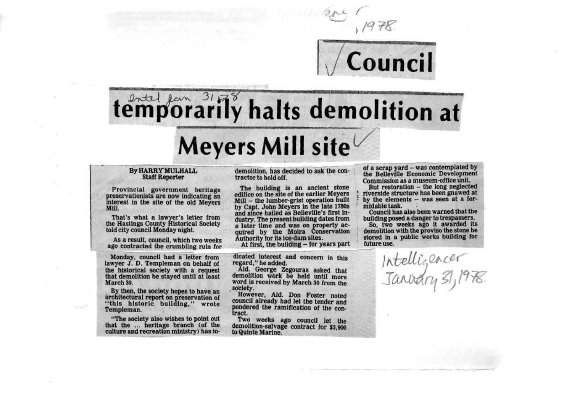 Council temporarily halts demolition at Meyers Mill site