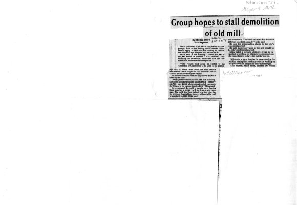 Group hopes to stall demolition of old mill
