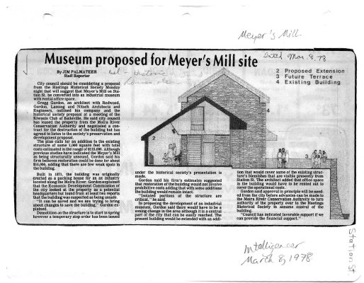 Museum proposed for Meyer's Mill site