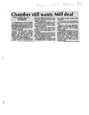 Chamber still wants Mill deal