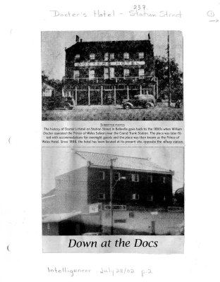 Docter's Hotel: 237 Station St. - Down at the Docs