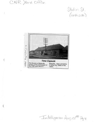 Time capsule: CNR Yard Office, Station st.