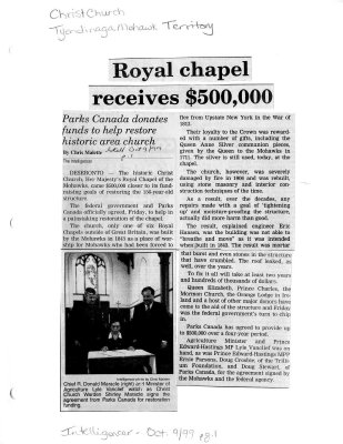 Royal Chapel receives $500,000
