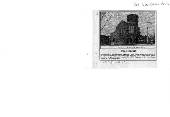 Time capsule: 34 Victoria Ave. Victoria Avenue Baptist Church