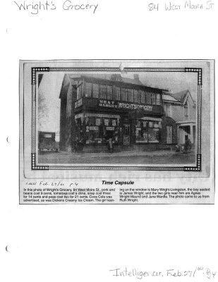Time capsule: Wright's Grocery
