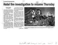 Hotel fire investigation to resume Thursday: Quinte Hotel