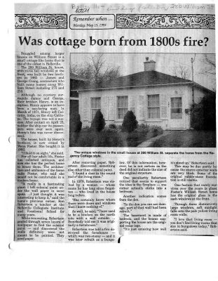 Was cottage born from 1800s fire?
