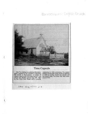 Time capsule: Bannockburn - English Church