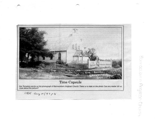 Time capsule: Bannockburn Anglican Church