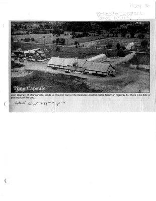 Time capsule: Belleville livestock sales facility
