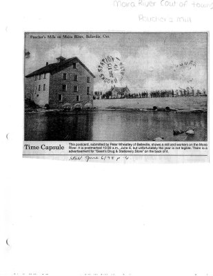 Time capsule: Poucher's Mill on Moira River