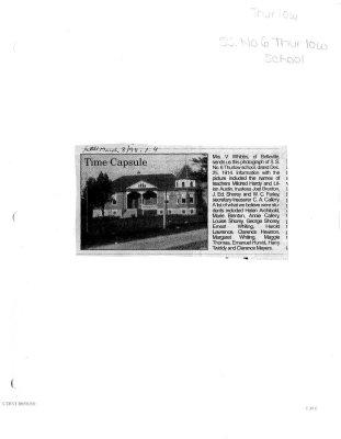 Time capsule: Thurlow School