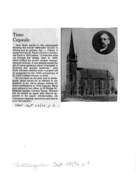 Time capsule: Methodist Church, Stirling
