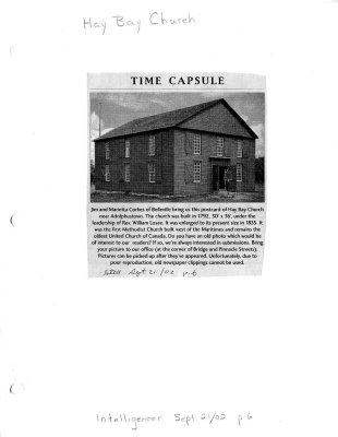 Time Capsule: Hay Bay Church