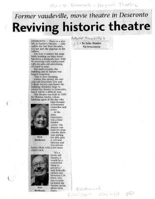 Reviving historic theatre: Deseronto