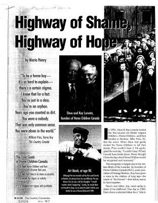 Highway of Shame, highway of hope