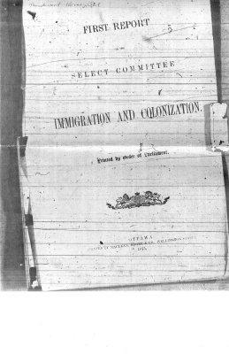Immigration and Colonization - Ottawa 1875