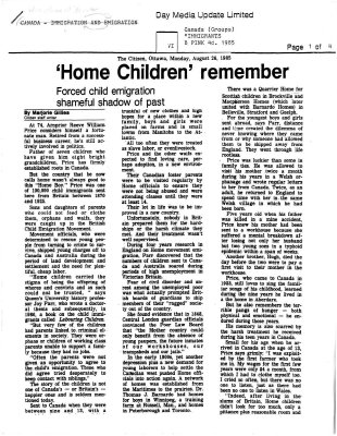 Home children remember