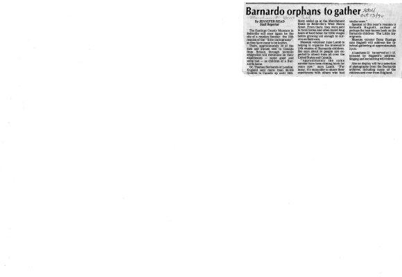 Barnardo orphans to gather