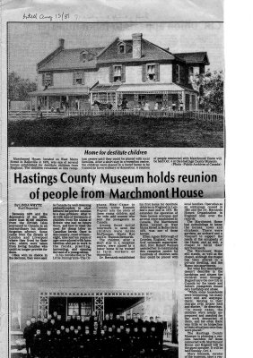 Hastings County Museum holds reunion of people from Marchmont House