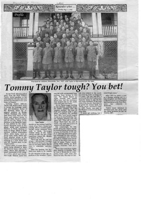 Tommy Taylor tough? You bet!