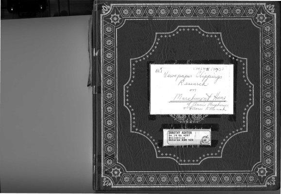 BPL Marchmont Home Scrapbook #1