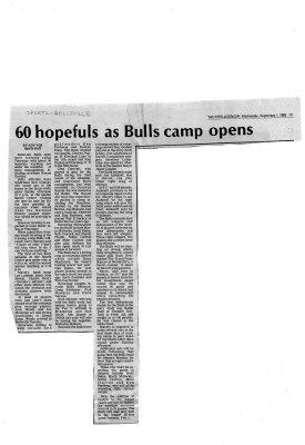 60 hopefuls as Bulls camp opens