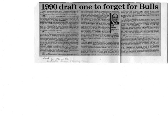 1990 draft one to forget for Bulls