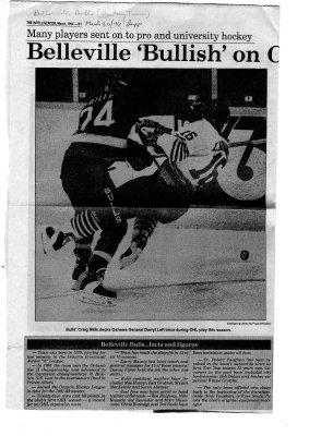 Belleville 'Bullish' on OHL Hockey