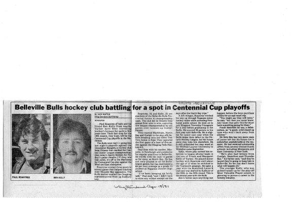 Belleville Bulls Hockey Club Battling for a Spot in Centenial Cup Playoffs