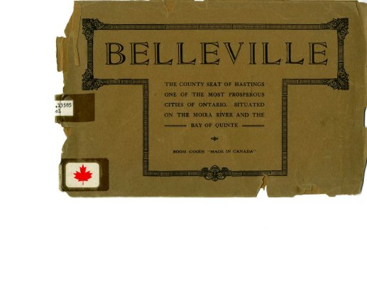 Belleville: the County Seat of Hastings County