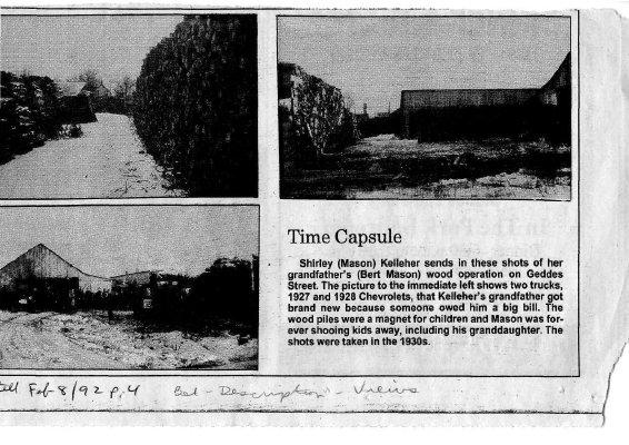 Time capsule: Geddes Street 1920s