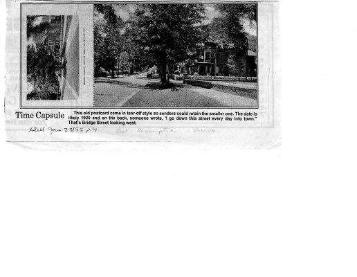 Time capsule: Bridge Street 1920 postcard