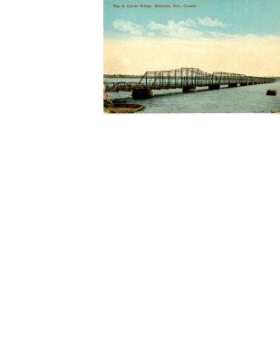 Postcard: Bay of Quinte Bridge Belleville Ont., Canada