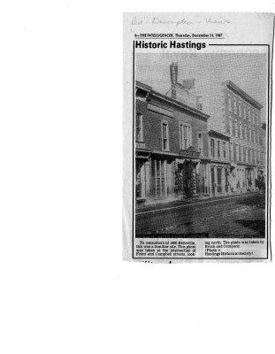 Historic Hastings, December 31, 1987