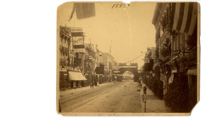 Photo of street in Belleville (Ont.) - circa 1885
