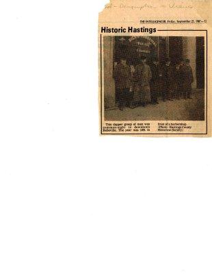 Historic Hastings: barbershop photo