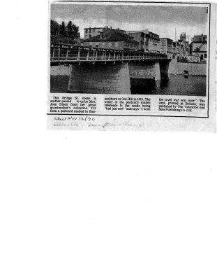 Belleville Bridge postcard