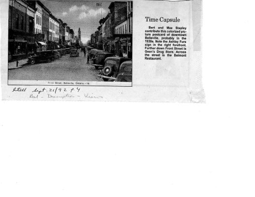 Time Capsule: postcard of downtown Belleville