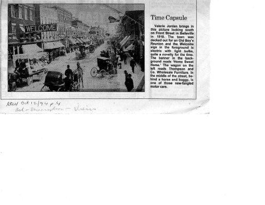 Time capsule: Belleville 1910