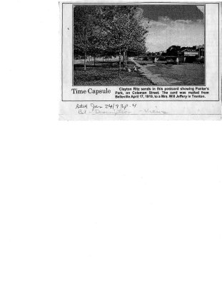 Time capsule: Panter's Park, Belleville, ON