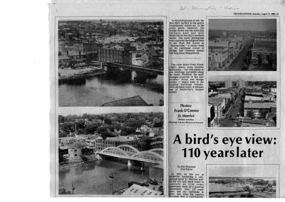 A bird's ey view: 110 years later