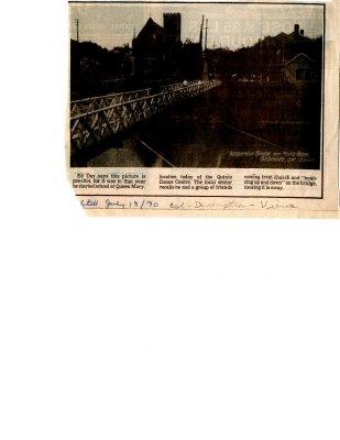 Belleville, Ontario: Suspension Bridge over Moira River