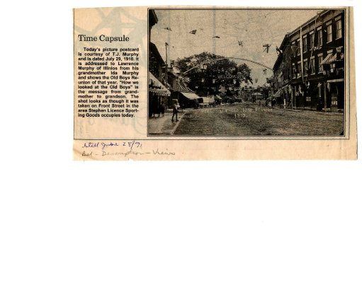 Time capsule: Belleville Old Boys Reunion 1910