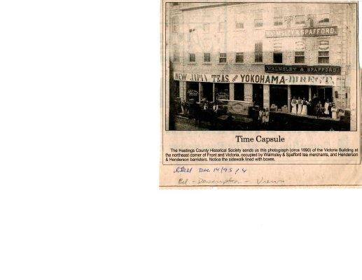 Time capsule: Victoria Building c. 1890, Belleville