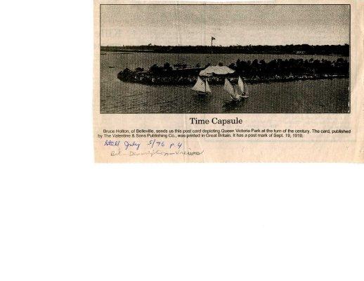 Time capsule: Queen Victoria park, Belleville 1910
